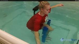 knee rehabilitation in the HydroWorx pool