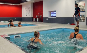 Group water training at Utah