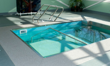 Sunlit therapy pool