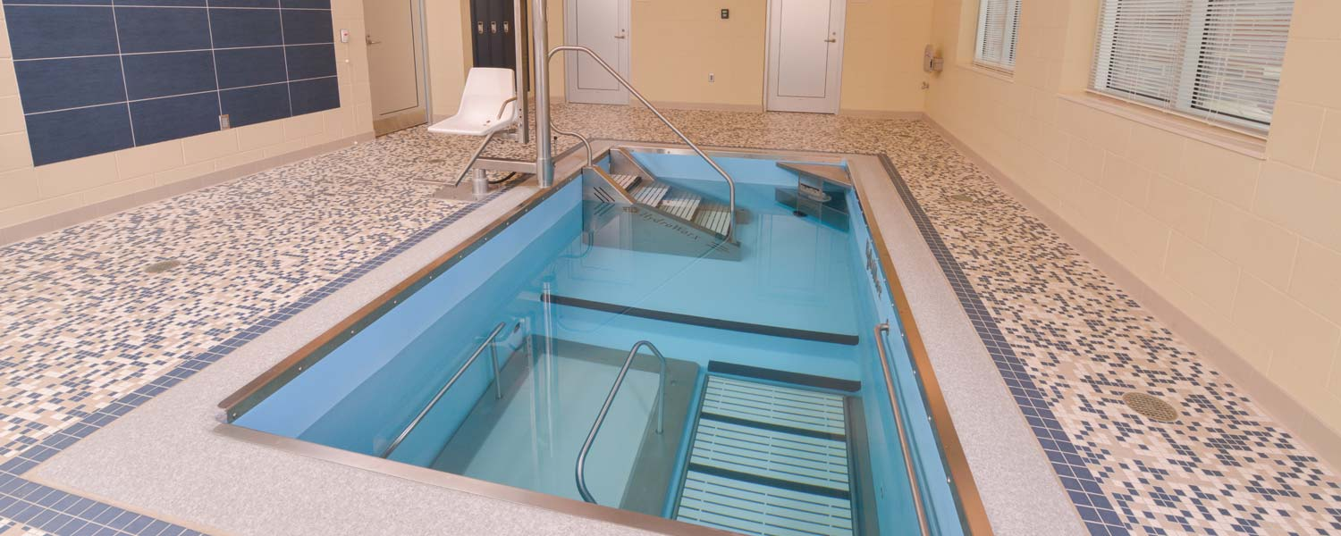 HydroWorx training pool with stairs