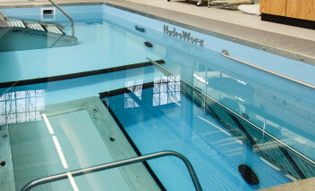 HydroWorx pool compartment opening