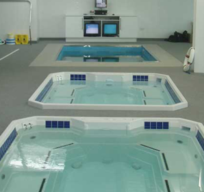 Mulitple HydroWorx therapy pools