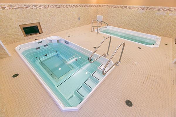 Tiled HydroWorx pool area