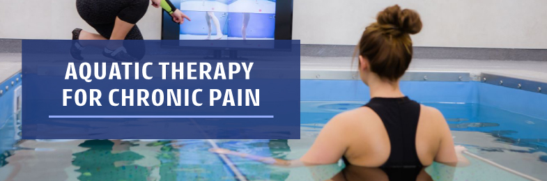 Female in HydroWorx Therapy Pool for Chronic Pain