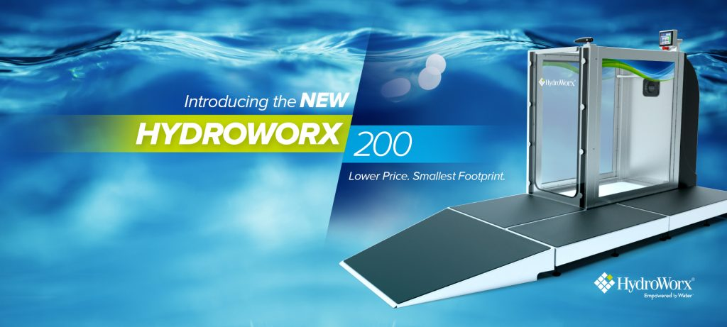 HydroWorx 200 for physical therapy banner